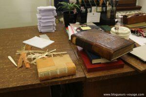 Atelier de reliure de la bibliothèque des Dominicains à Colmar