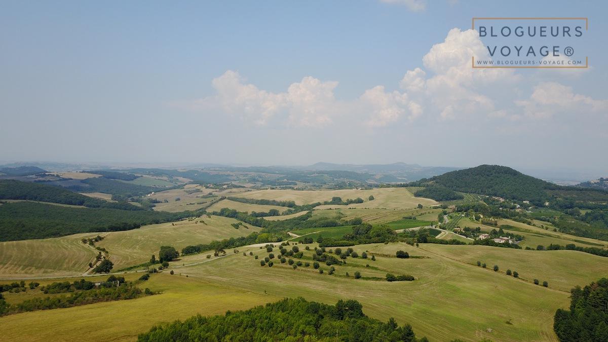 Vue sur la campagne de Toscane